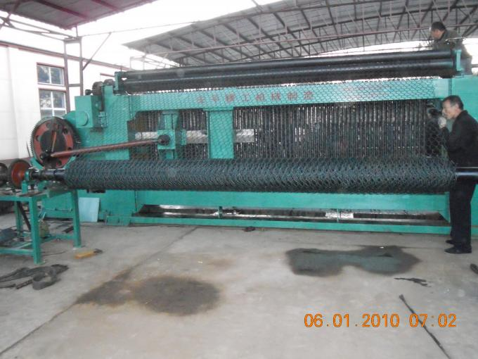 Heavy Duty Automatic Weaving Machine , 4500 Mm Max Width Gabion Box Machine