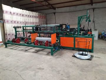 China Double Wire CNC Chain Link Fence Machine / Automatic Chain Link Machine For Playground supplier