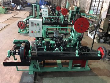 China Horizontal Double Twist Barbed Wire Machine / Barbed Wire Making Machine For Meadow Defense distributor