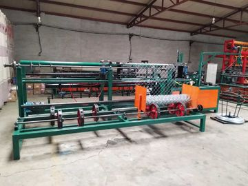 China Fully Automatic Chain Link Fence Machine PLC Control For Playground / Railway distributor