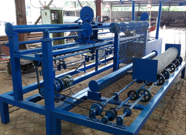 China Galvanized Chain Link Mesh Machine , Fully Automatic Fencing Wire Making Machine distributor