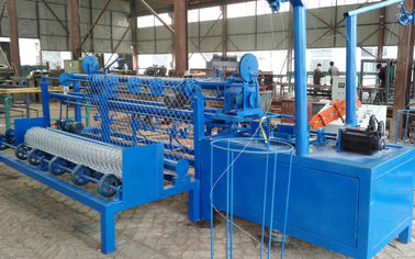 China Fully Automatic Chain Link Fence Machine / PVC Coated Galvanized Fence Making Equipment distributor