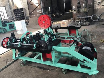China Single Strand Barbed Wire Making Machine , Barbed Wire Fencing Machine For Protection distributor