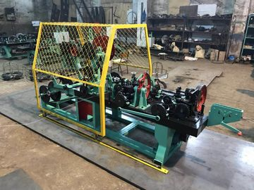 China High Speed Barbed Wire Machine Double Strand Blue / Green Color CE Approved distributor